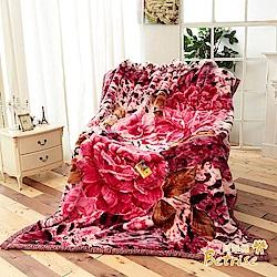 Betrise戀豹語 頂極日本1.5D拉舍爾超細纖維雙層保暖櫻花毯-大尺寸180x230