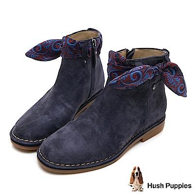 Hush Puppies CATELYN 設計感綁帶沙漠靴-深藍