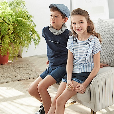PIPPY 細緻刺繡短褲 深藍