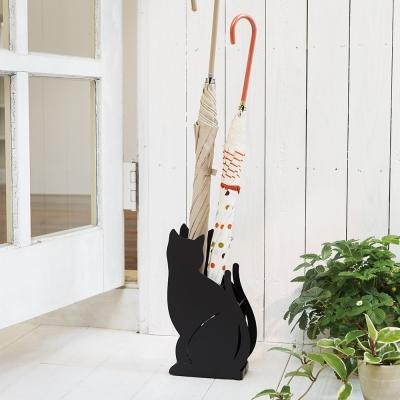 【YAMAZAKI】Cat優雅佇立傘架-黑★雨傘筒/雨傘桶
