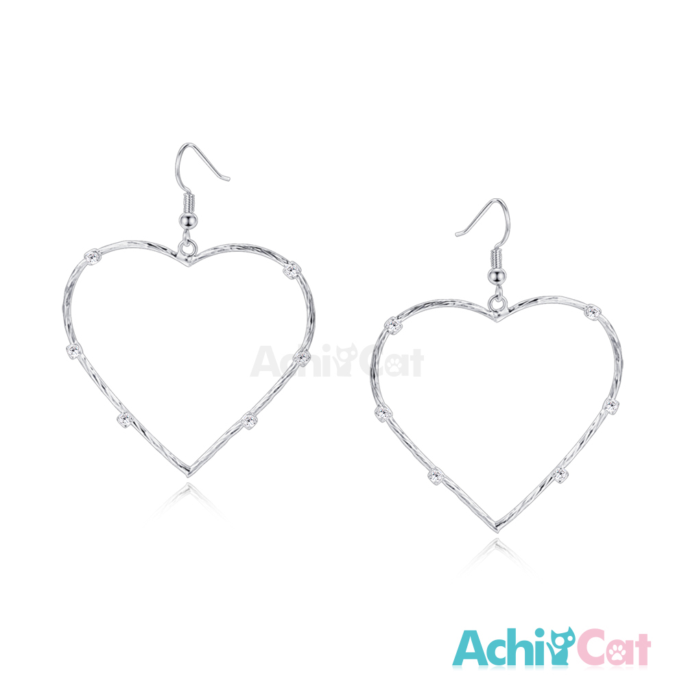 AchiCat 耳環耳勾式 甜美大愛心