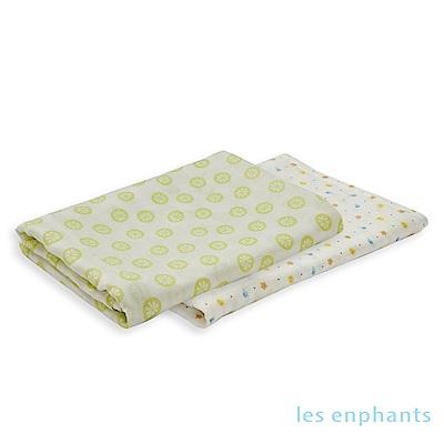 【les enphants 麗嬰房】 Bamboo竹纖維雙層紗方巾(二入)(2色可選)