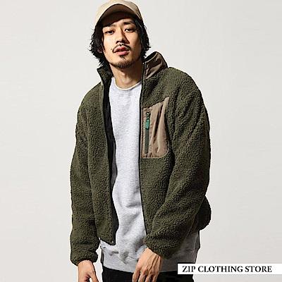 仿羊絨立領布勞森外套(6色) ZIP日本男裝