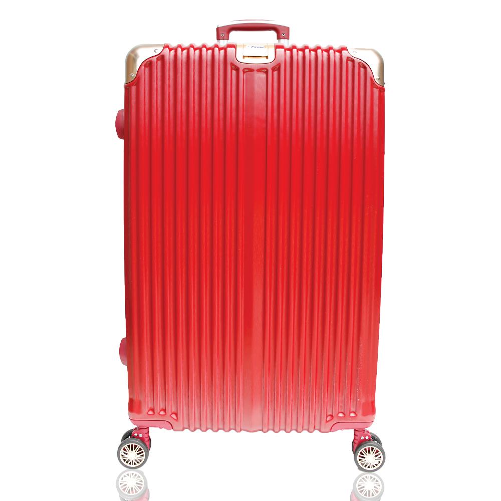 YC Eason 星光二代25吋海關鎖款PC行李箱 混色紅金