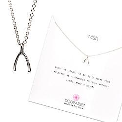 Dogeared 許願骨 銀項鍊 Wishbone Necklace 附原廠禮盒
