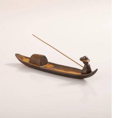 【原藝坊】創意陶瓷香插室內復古擺件釣魚翁線香插