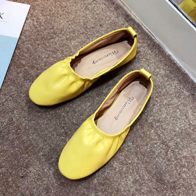 KEITH-WILL時尚鞋館 時尚穿搭機能日系清甜娃娃鞋-黃
