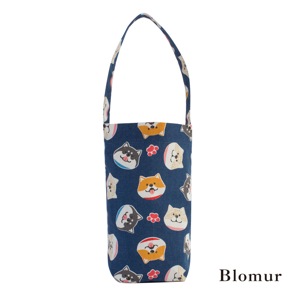 Blomur 長版飲料袋- 萌萌柴犬(藍)