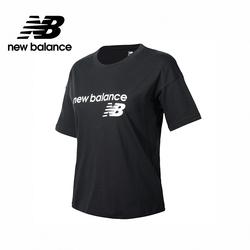[New Balance]NB短袖上衣_女性_黑色_WT03805BK (官方