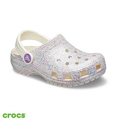 Crocs 卡駱馳 (童鞋) 金蔥設計小克駱格-205441-159