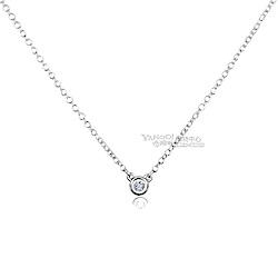 Tiffany&Co. 0.03克拉圓形鑽石純銀項鍊