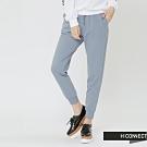 H:CONNECT 韓國品牌 女裝 - 鬆緊設計休閒棉褲-藍(快)