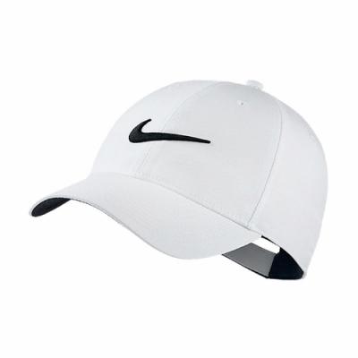 Nike 帽子 Legacy91 Golf Hat 男女款 遮陽帽 高爾夫球帽 帽圍可調 魔鬼氈 白 黑 892651100