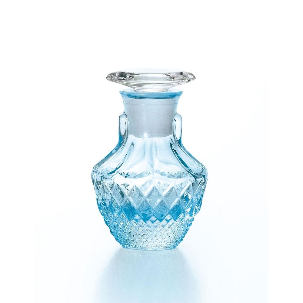 日本ADERIA 淺藍鑽刻豆醬油瓶65ml