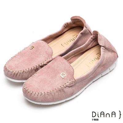 DIANA 漫步雲端焦糖美人款--玫瑰花釦雲彩超軟Q休閒鞋–粉