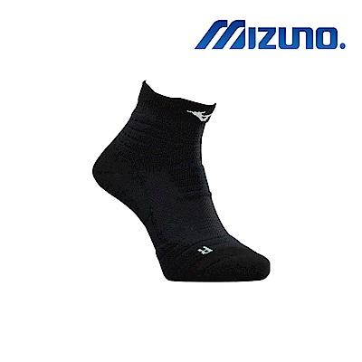 MIZUNO 男運動厚底短襪 5入 黑 32TX920309