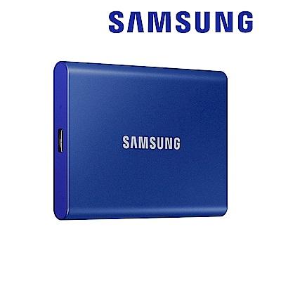 SAMSUNG 三星T7 2TB USB 3.2 Gen 2移動固態硬碟 靛青藍 (MU-PC2T0H/WW)