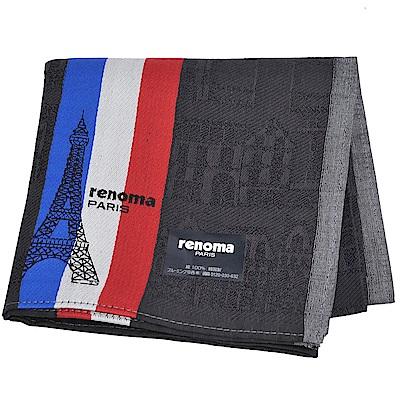 renoma PARIS 巴黎鐵塔法國旗配色字母LOGO帕領巾(黑色)