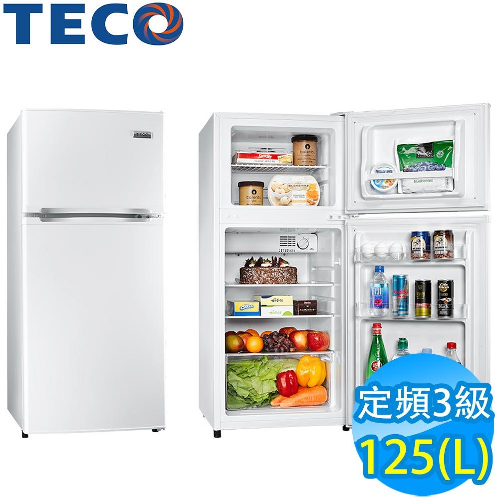 TECO東元 125L 3級定頻2門電冰箱 R1303W