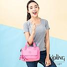 Kipling 甜美糖果粉側翻蓋手提側背包-ZEVA