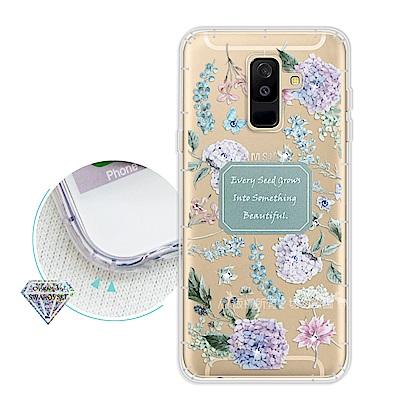 浪漫彩繪 Samsung Galaxy A6+/A6 Plus 水鑽空壓手機殼(...