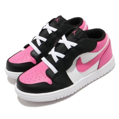 Nike 休閒鞋 Jordan 1 Low Alt 運動 童鞋 基本款 簡約 魔鬼氈 喬丹 小童 白 粉 CD7227106