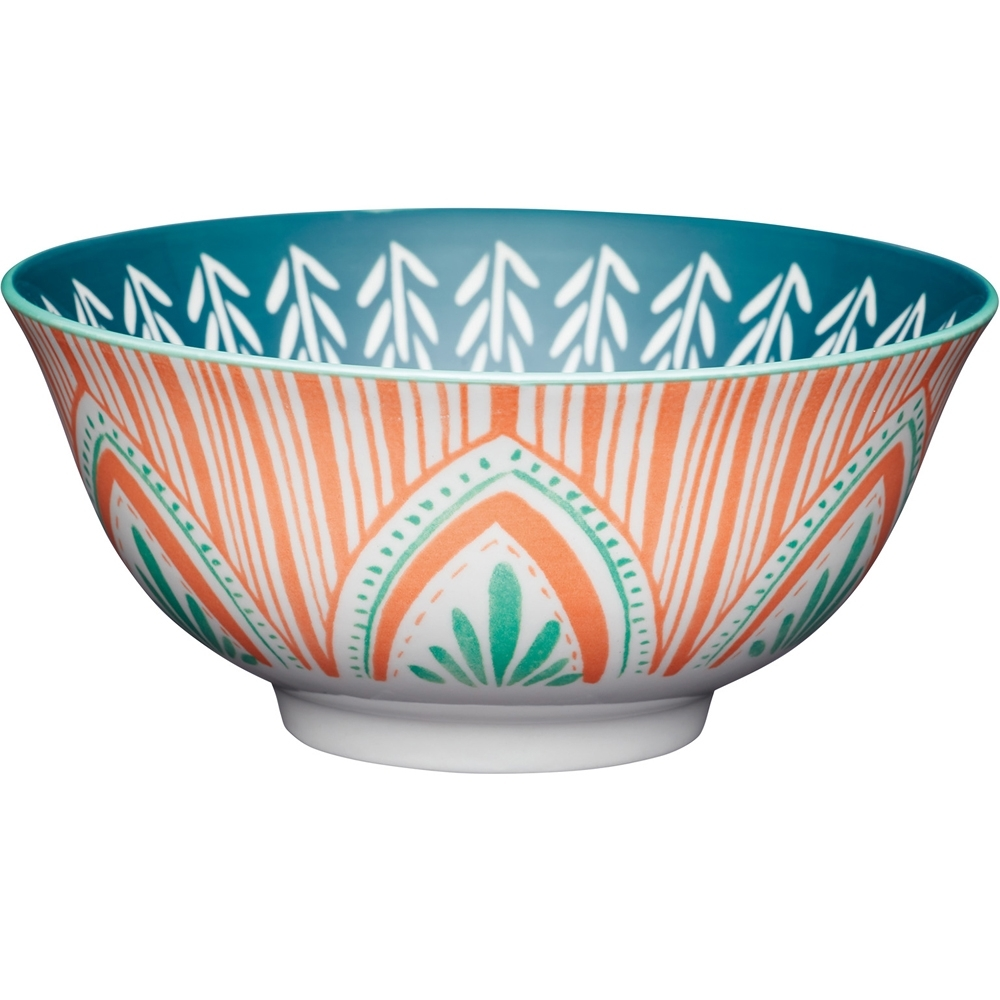 《KitchenCraft》陶製餐碗(民族橘)