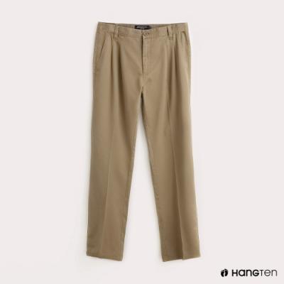 Hang Ten-男裝折線REGULAR FIT防皺工作長褲-卡其