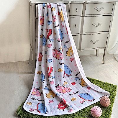 義大利Fancy Belle 甜蜜小雨傘 色坊針織兒童涼被