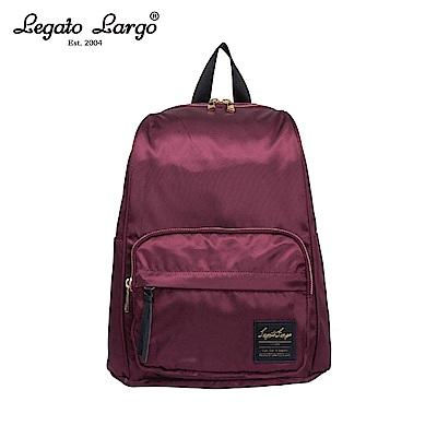 Legato Largo 防潑水簡約後背包-酒紅 LT-C2151WI