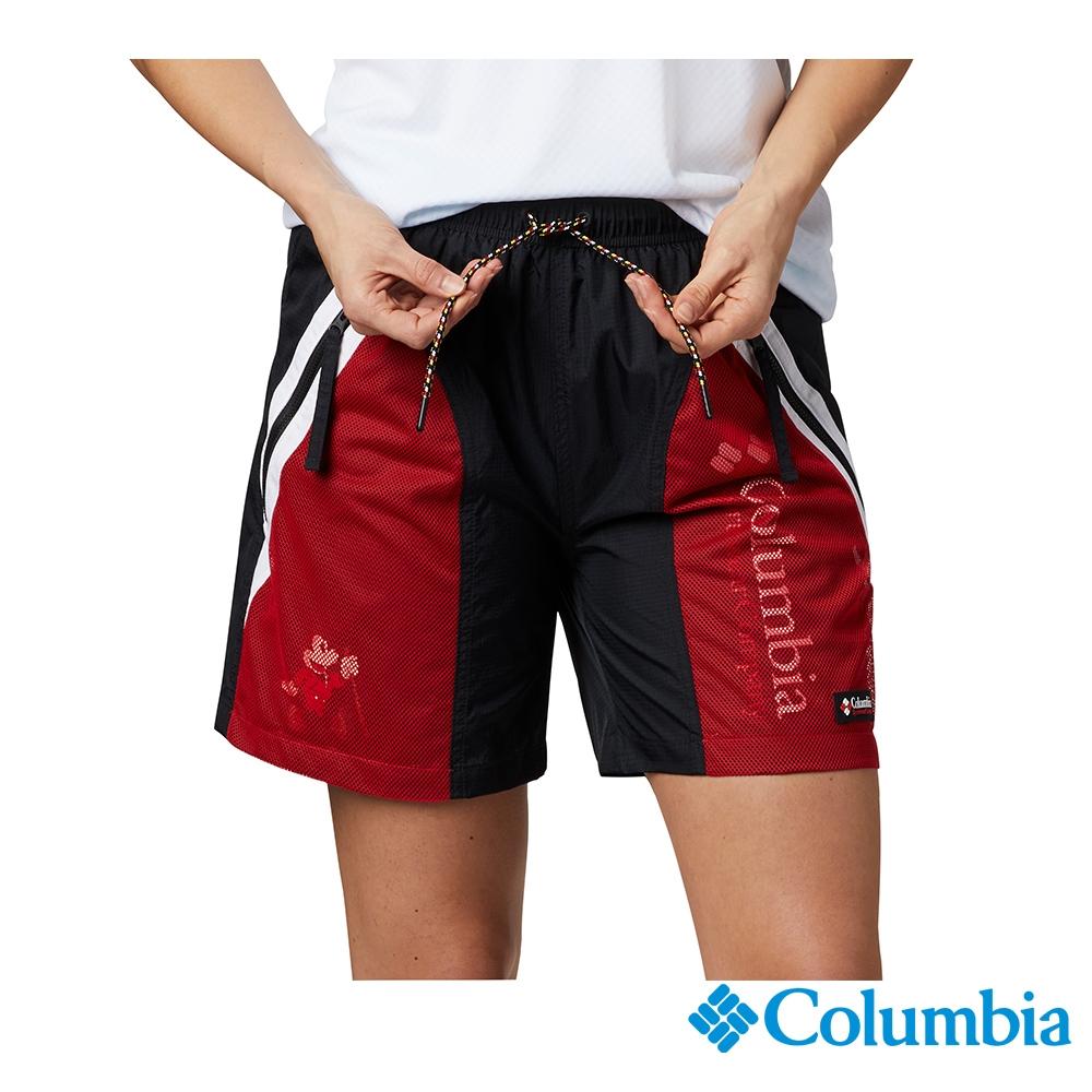 Columbia 哥倫比亞X Disney 中性-防潑短褲-紅色 UAE04160RD