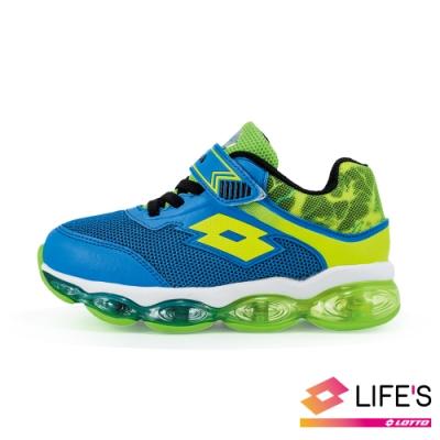 LOTTO 義大利 童 閃電行者 全氣墊跑鞋 (藍)