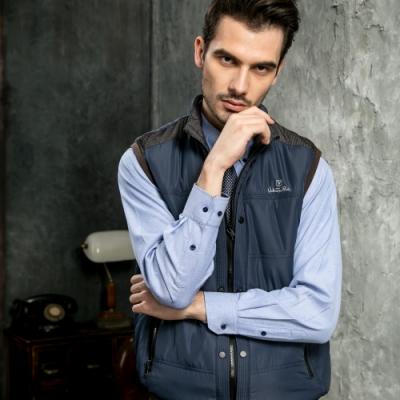 Valentino Rudy范倫鐵諾.路迪 拉鍊式休閒背心-雙排扣-藍
