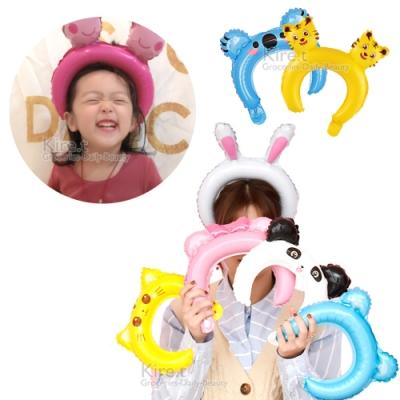 超萌可愛卡通動物髮圈造型髮箍氣球-超值15入 生日、變裝、派對裝扮道具kiret