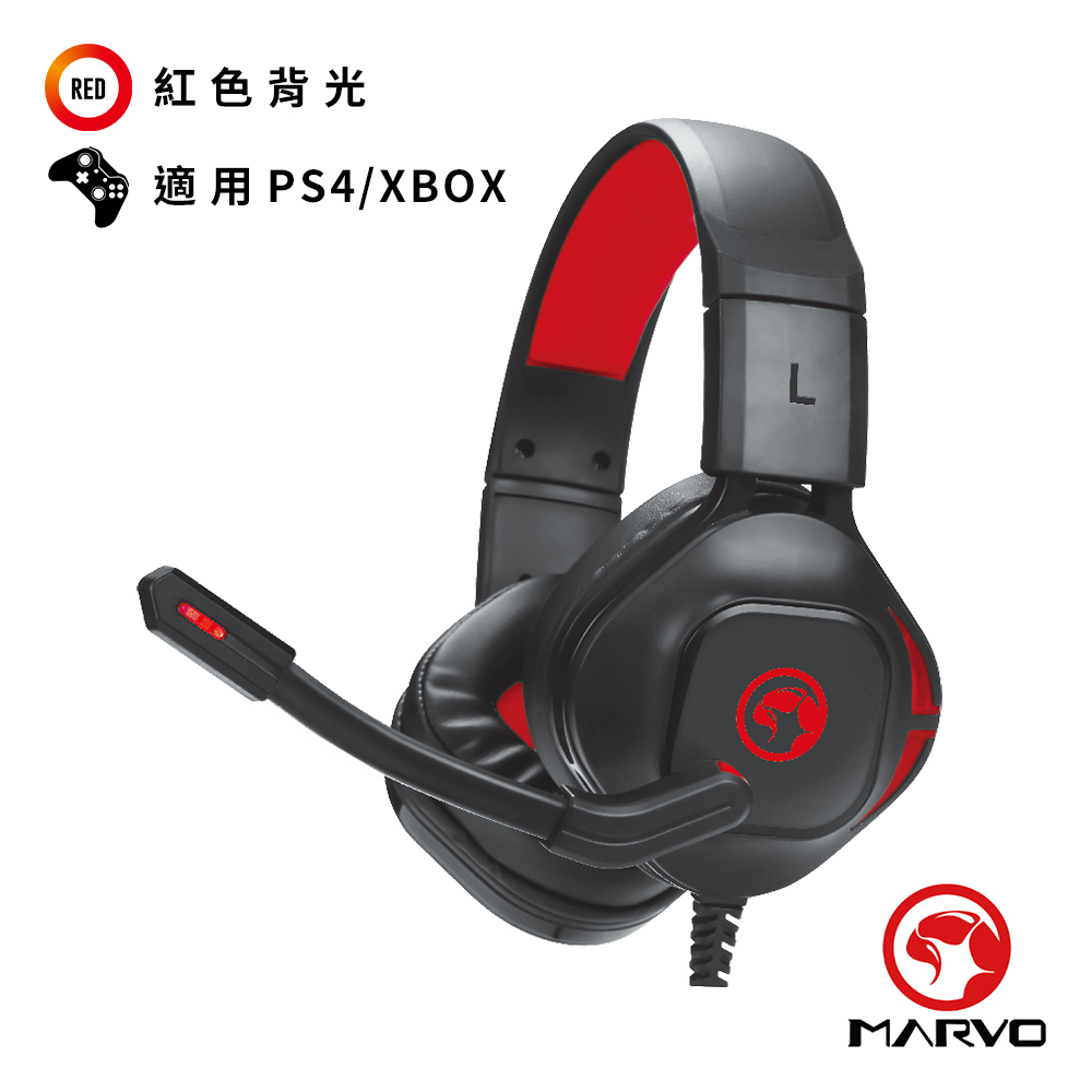 【MARVO魔蠍】HG8944 立體聲電競耳罩式耳機