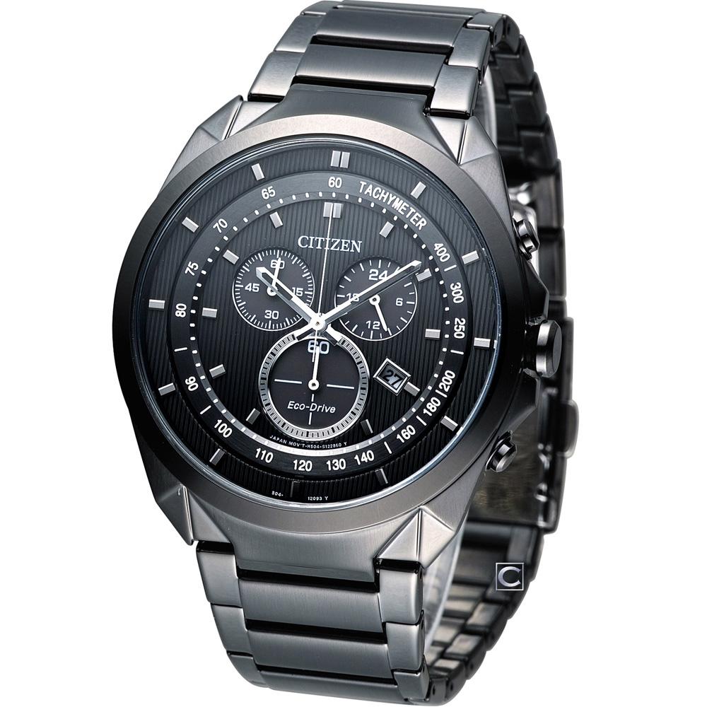 CITIZEN Eco-Drive 未來時尚 計時腕錶(AT2155-58E)44mm