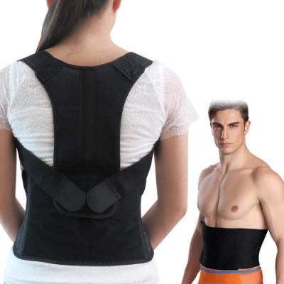 【JS嚴選】*發燒新品*健康減壓護脊板挺背帶(611美背+爆汗腰夾)