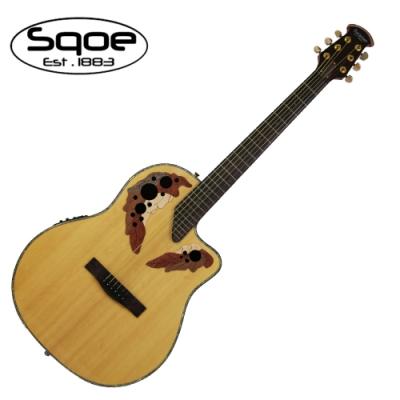 SQOE CE44P NT 民謠電木吉他 圓背葡萄響孔原木色款