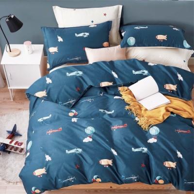 3-HO-雪紡棉 單人床包/枕套 二件組-飛行夢