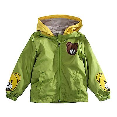 小熊防風雙層連帽外套 k60794 魔法Baby
