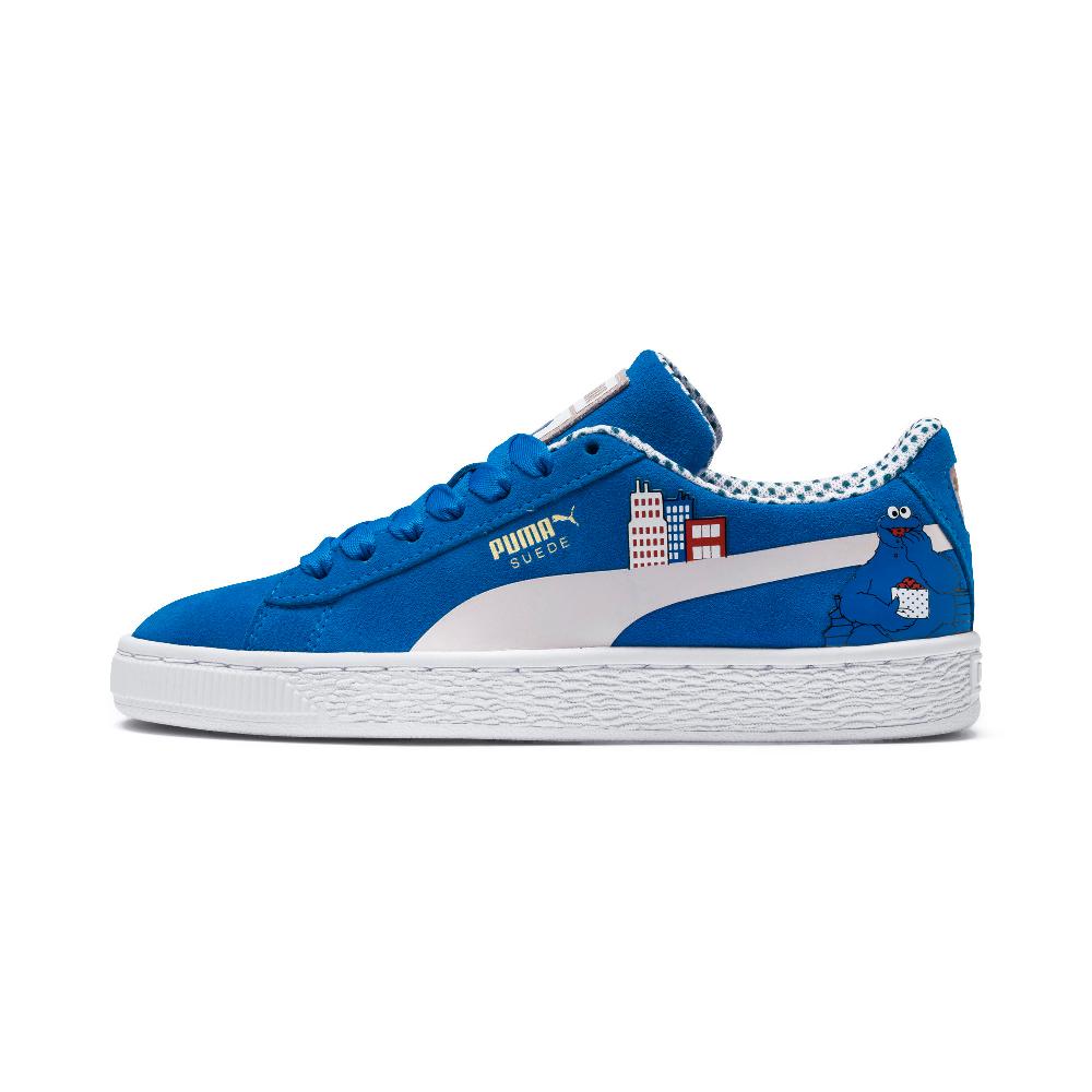 PUMA-Sesame Str 50 Suede PS 小童運動鞋-靛藍色