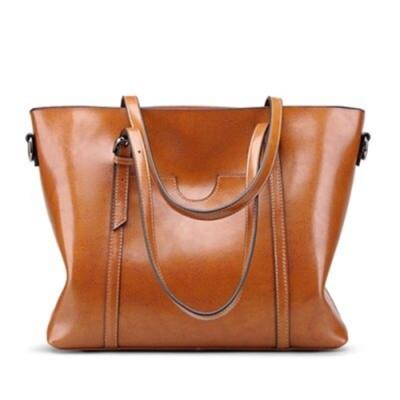 米蘭精品 手提包真皮單肩包-大容量時尚經典托特女包情人節生日禮物7色73rd26