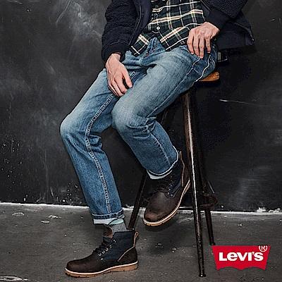 Levis 男款510 緊身窄管牛仔長褲 4向彈力延展 縫線補丁 復古刷白