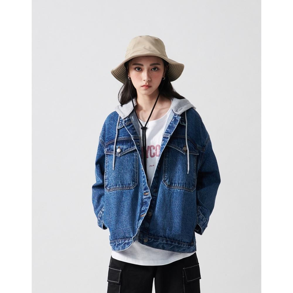 NAVY-可拆帽牛仔外套(二色)-女【C2NA010】