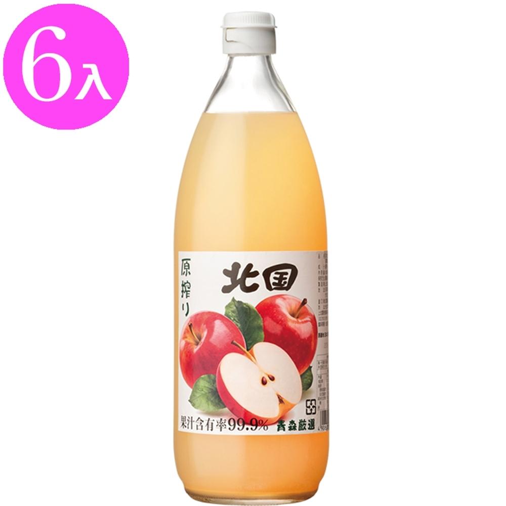 北國 日本北國青森蘋果汁1000mlx6入(日本原裝進口)