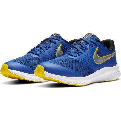 NIKE 大童  慢跑 透氣 緩震 訓練 運動鞋 女鞋  藍 AQ3542404 STAR RUNNER 2 GS