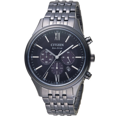 CITIZEN 星辰 沈穩時尚光動能腕錶(CA4415-81E)42mm
