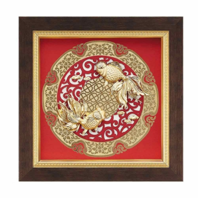 My Gifts 立體金箔畫-金玉滿堂(圓形窗花系列20.5x20.5cm)