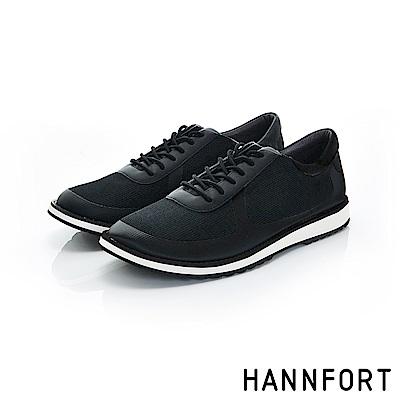 HANNFORT CANYON網布休閒鞋-男-曜岩黑