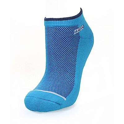 【ZEPRO】男子運動抗菌慢跑襪-淺藍
